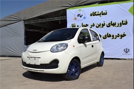 نمایش اولین خودرو برقی ایرانی در سمپوزیوم خودروهای هیبریدی و برقی