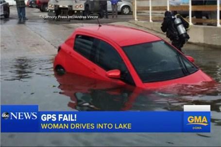 ورود به دریاچه یخبندان به دلیل اعتماد به نویگیشن خودرو!