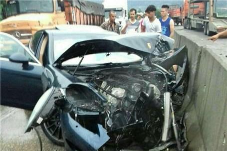 تصادف خودرو میلیاردی