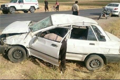 واژگونی خودرو مقابل شهرک صنعتی علویجه سه کشته و سه مصدوم برجا گذاشت