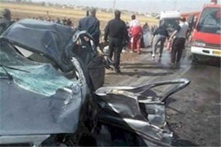 واژگونی خودروی زائران اربعین حسینی(ع) در محور خرمآباد - بروجرد