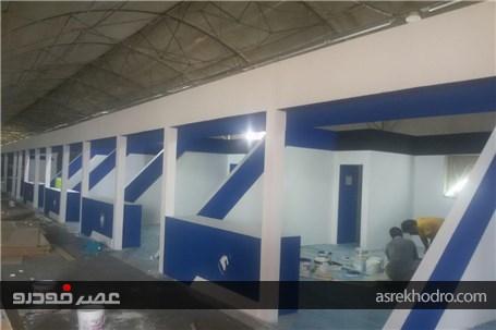 گزارش تصویری از ساخت و ساز نمایشگاه خودرو کرج