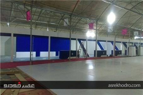 گزارش تصویری از اماده سازی نمایشگاه خودرو البرز یک روز پیش از آغاز