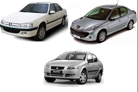 قیمت انواع محصولات ایران خودرو 23 آبان 97