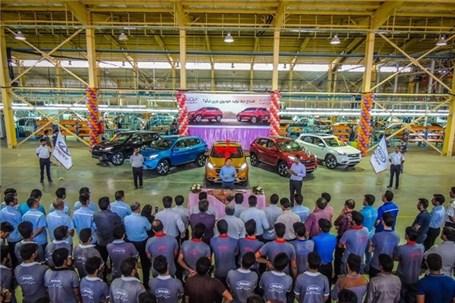 افتتاح خط تولید چری تیگو7 در ارگ جدید بم