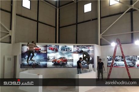 مراحل اماده سازی غرفه مدیا موتورز در نمایشگاه خودرو مشهد