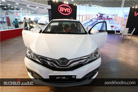 گزارش تصویر ی از حضور بی وای دی در نمایشگاه خودرو تبریز