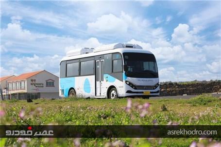 """شروع به کار 20دستگاه اتوبوس تمام الکتریکی کمپانی BYD در جزیره """"ججو"""" واقع در کره جنوبی"""