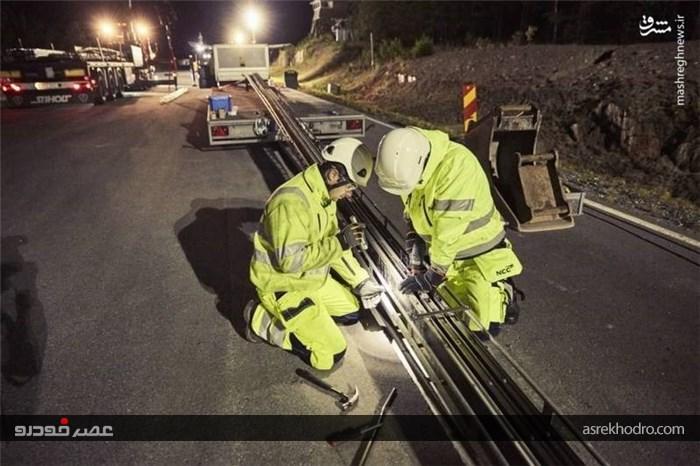 جاده برقی با قابلیت شارژ خودروها
