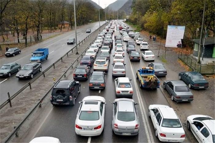 ترافیک سنگین در محورتهران - قم