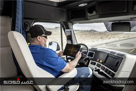 کامیون خودران دایلمر در نمایشگاه محصولات الکتریکی (+عکس)
