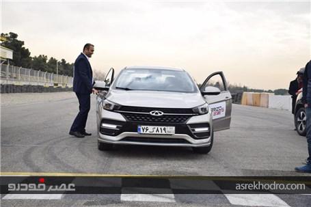 تستدرایو محصول جدید چری در بازار ایران توسط دونماینده نامآشنا مدیرانخودرو در پیست اتومبیلرانی آزا