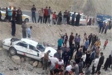 سقوط مرگبار پژو پارس در محور سادات- چرام