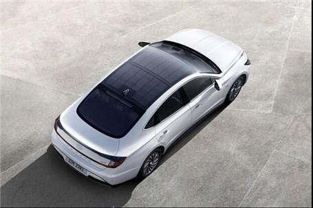 نخستین خودروی خورشیدی هیوندای معرفی شد