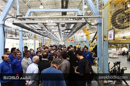 در حاشیه بازدید از کارخانه کویرموتور