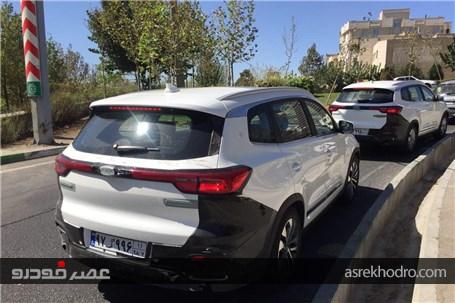 خودروی جدید بازار ایران در حال تست فنی در خیابان
