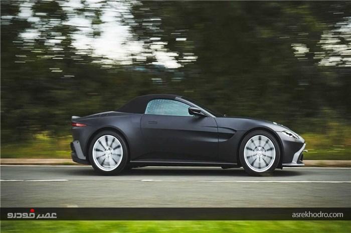انتشار تصاویری از پیشنمایش خودروی Vantage Roadster استون مارتین + تصاویر