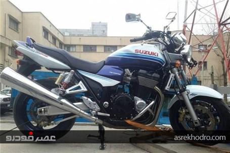 توقیف موتورسیکلت ۴۰۰ میلیونی در تهران