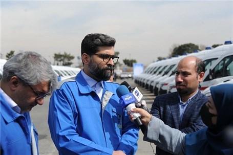 50 دستگاه آمبولانس ایران خودرو دیزل آماده تحویل به ناوگان امدادی کشور