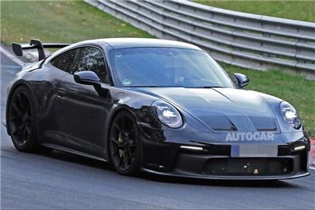 اولین تصاویر واضح Porsche 911 GT3 منتشر شد